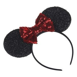 Other - Minnie Mouse Headband with Red Sequin Bow